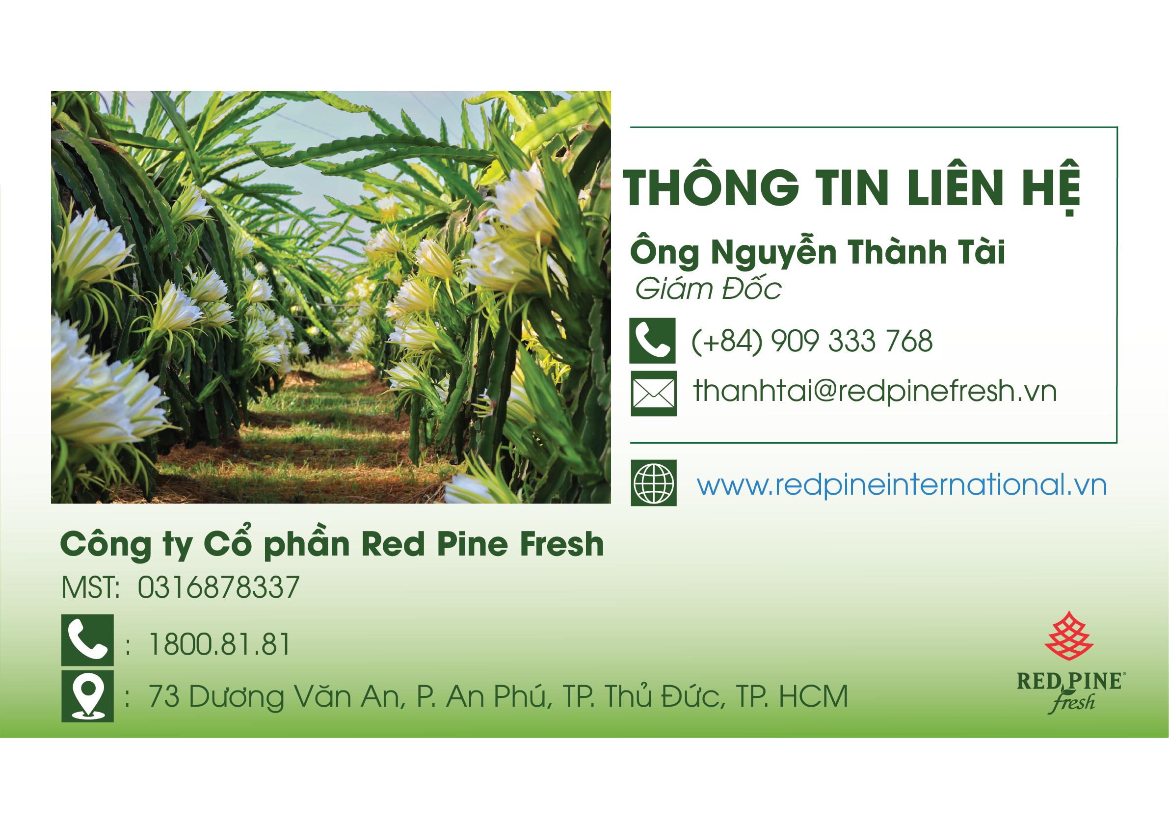 công ty red pine fresh phân phối nông sản